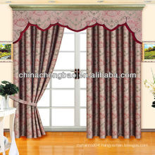 Jacquard blackout curtain with valance